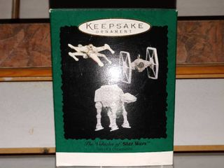 Vintage Hallmark Keepsake Ornament Vehicles of Star Wars   Set of 3 In Original Box