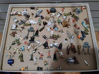 Vintage large lot of Star Wars Action Fleet Micro Playset Figures   Hasbro Galoob
