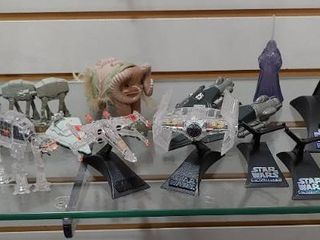 Vintage lot of 14 Star Wars Assorted Ships  Animals   Applause