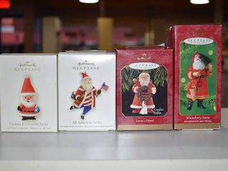 Vintage lot of 4 Hallmark Keepsake Christmas Ornament   All American   Cookies  Cookies   Cocoa  Winterberry   Friend Santa