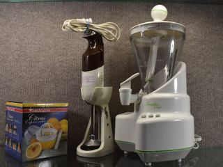 lot of 3 Small Appliance Smoothie Elite  Citrus Cutter   Hand Held Blender   Starfrit
