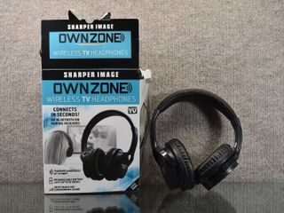 Ownzone Wireless Headphones   Sharper Image   Rechargeable Batteries last up to 10 Hrs