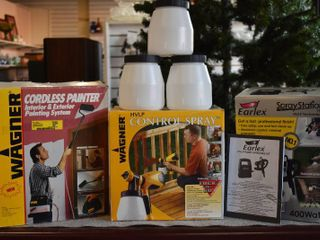 lot of 3 Painters lot  Cordless Paint Sprayer  Spray Station  Control Sprayer   3 Paint Holders   Wagner   Earlex   HVlP   1900 Models