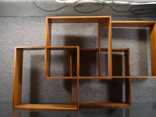 Vintage lot of 2 Display Wood Shelves   16  x 18    lOCAl PICKUP ONlY