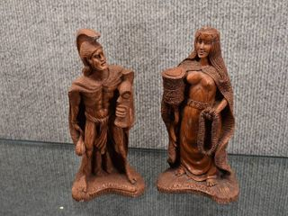 lot of 2 Hawaiian Hapa Wood Figures   Coco Joes of Hawaii   Statue of Peace   7