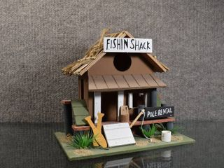 Fishin Shack Bird Wood House   Atico International   9