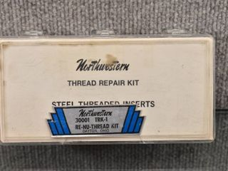 Thread Repair Kit Steel Threaded Inserts   Northwestern   Instructions Included