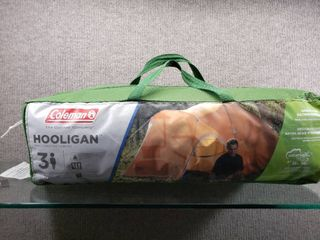 Coleman Hooligan 3 Person Tent w Carry Bag   Mesh Interior  Storage Pockets  Rainfly