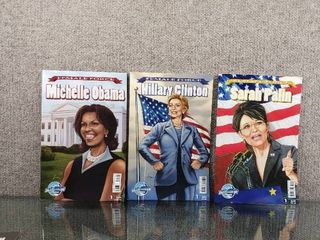 lot of 3 Blue Water Comics Female Force   Hillary Clinton  Michelle Obama  Sarah Palin