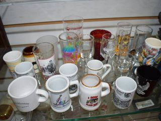 Vintage lot of 22 Collector Shot Glasses   Various locations   Various Sizes