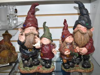 Vintage Set of 21 Gnome Figures   Made of Resin   12  Tall