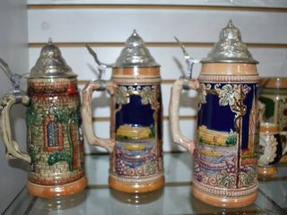 Vintage Set of 3 Beer Steins Made In Germany   Henoge Malt   Gertz   9