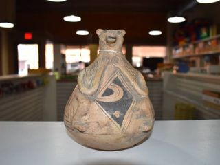 Vintage Native American Pottery   Casa Grande Vessel   6  Tall
