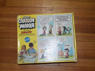 Vintage Mattel Super Cartoon Maker w  Snoopy   Pals   Makes 3D Pals