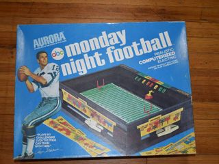 Vintage Aurora Monday Night Football Game   Realistic Computerized Electric