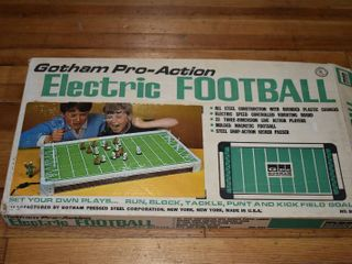 Vintage Gotham Pro Action Electric Football   All Steel Construction
