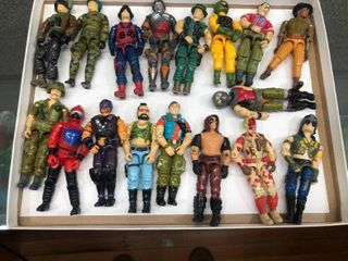 lot of Vintage GI Joe Toy Action Figures