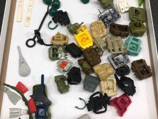 lot of VIntage GI Joe Action Figure Toy Accessories   Backpacks  Helmets  Snowshoes  Walkie Talkies   Other Equipment