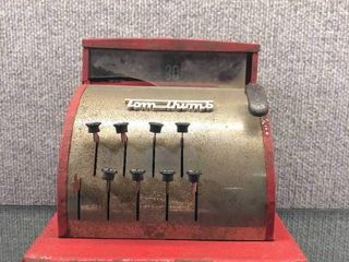 Vintage Tom Thumb Toy Register 1950 s   Western Stamping   Metal   6