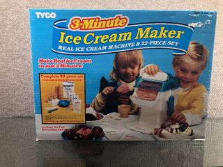 Vintage 3 Minute Ice Cream Maker 1995   Tyco   Instructions Included