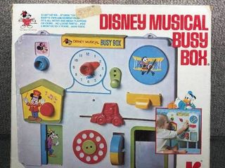 Vintage Disney Musical Busy Box 1970 s   Kohner   Original Box