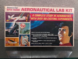 Vintage SFX 4000 Aeronautical lab Kit Complete 1960 s   Science Fair   Original Box