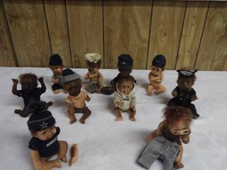 lot of 10 Dallas cowboy s baby figurine s