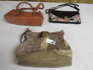lot of 3 various small medium purse s