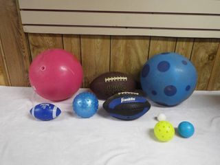 lot of various ball s  tote not included