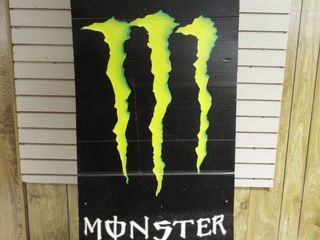 large monster energy sign  53 T  22 W