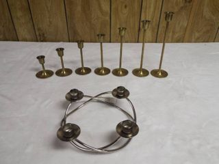 lot of various candle holder s