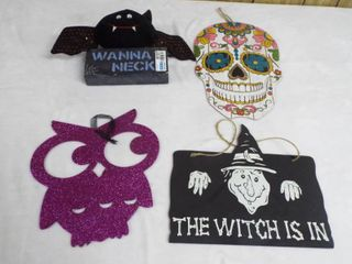 lot of halloween wall decor