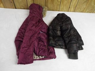 boy coat size 6  girl s coat size 10 12  both missing zipper s