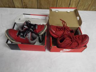 2  pair s of boy Nike s both size 1Y