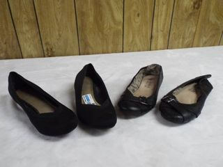 2  pair of women s flat s  one pair size 9 and the other pair size 9W