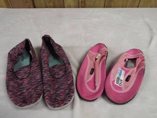 Girl s water shoe s size 4 and women s shoe s size 10