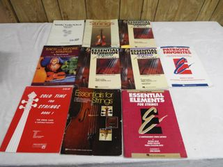 lot of various violin music book s