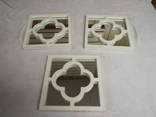 3 piece wall mirror s with design across mirror s