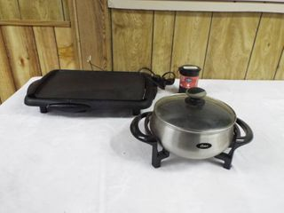 lot with a cooking griddle and a cooking pot