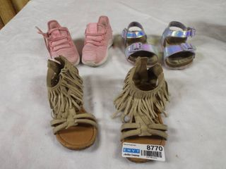 2  Pair of toddler sandle s and a pair of shoe s all size 6c