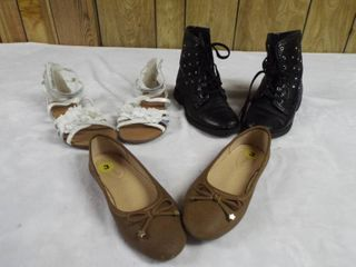 3  pair s of girl s shoe s size 3