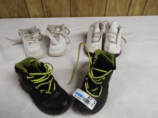 3 pair s of boy s shoe s various size s