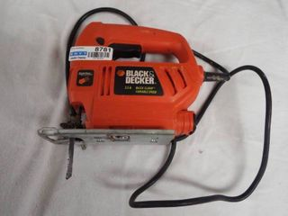 Black and Decker 3 5 A quick clamp variable speed saw 120 v ac 60 Hz