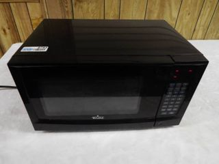 Black rival microwave  missing plate inside