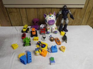 lot of kid s toy s with crate