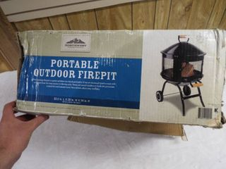 Portable outdoor firepit  22 5  m  l x 20  W x 34  H
