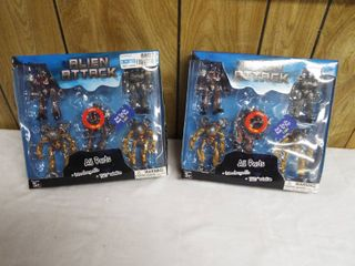 2 new pack s of alien attack toy s