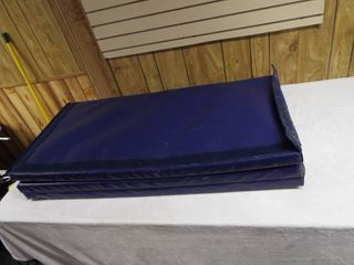 large blue mat  71  W x 47 5  T x 2 5  D