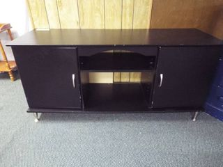 Black entertainment TV stand  58  W  20  D  27  T