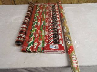 lot of christmas wrapping paper